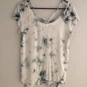 Tie-dye cross front T-shirt